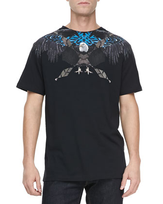 Graphic Eagle Tee, Black