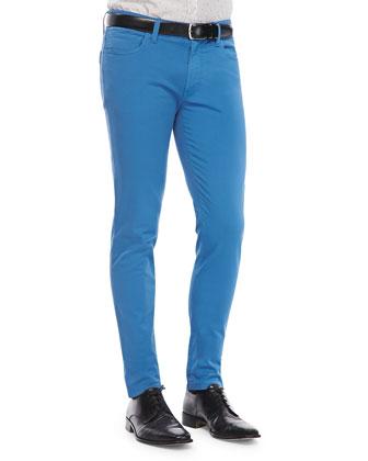 Garment-Dyed Pants, Blue
