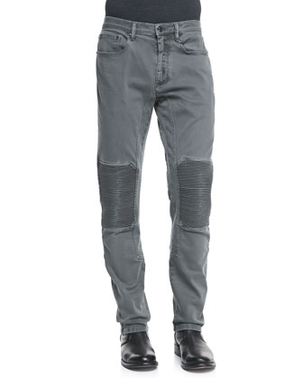 Blackrod Denim Moto Jeans, Gray