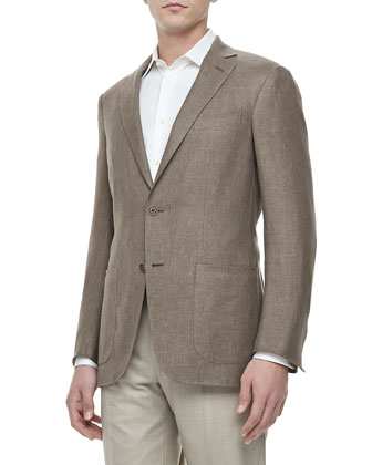 Two-Button Blazer, Light Brown