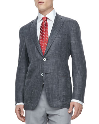 Two-Button Blazer, Charcoal