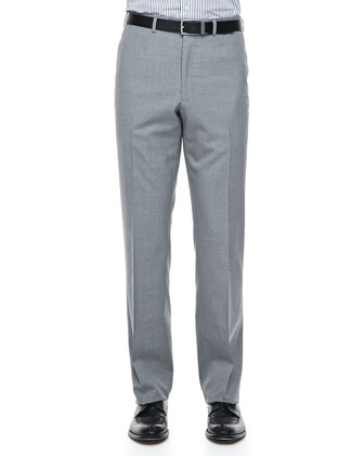 Solid Wool Dress Pants, Light Gray