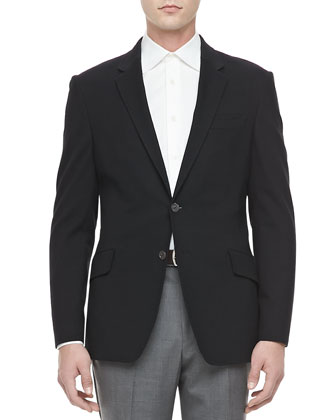 Stretch-Jersey Sport Coat, Black