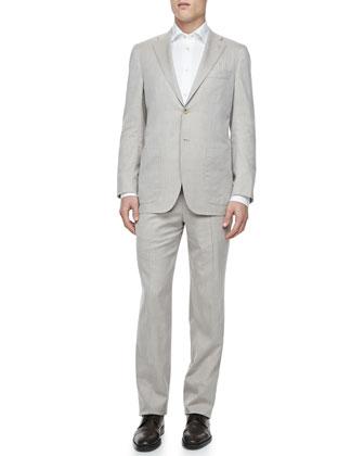 Herringbone Two-Piece Suit, Tan