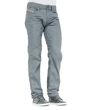 Waykee Straight Leg Jeans, Grey