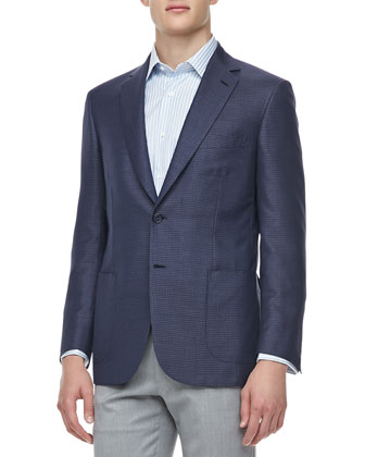 Mini-Check Double-Faced Sport Coat,