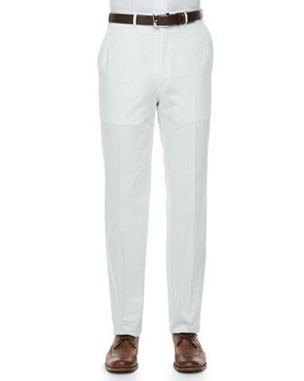 Lightweight Cotton Pants, White