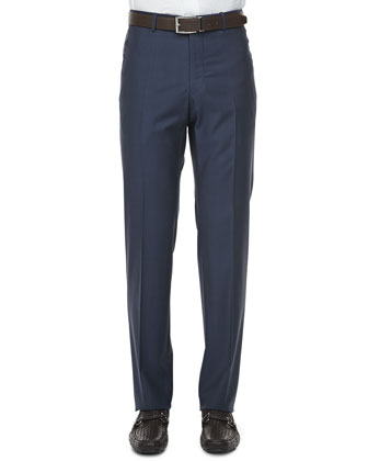150s Wool Trousers, Blue
