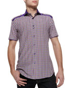 Mini Axel 46 Plaid Short-Sleeve Shirt