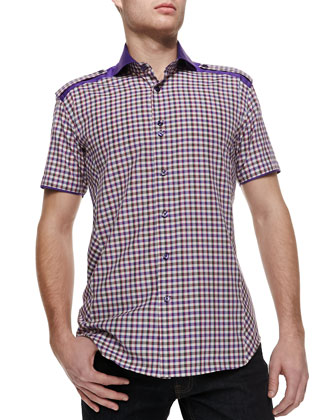 Mini Axel 46 Plaid Short-Sleeve Shirt