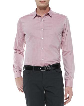 Zack Sport Shirt, Raspberry
