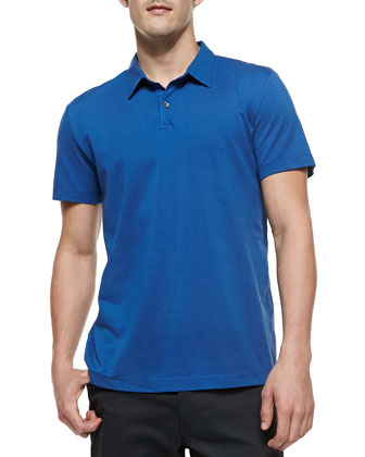 Short Sleeve Polo Shirt, Royal Blue