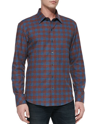 Tabib Flannel Plaid Sports Shirt