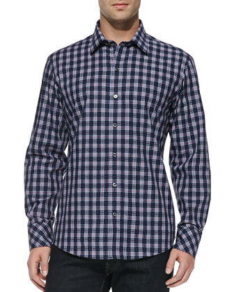 Becktold Plaid Sport Shirt