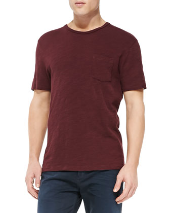 Basic Pocket Tee, Wine