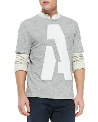 Alphabet Pocket Tee, Dark Gray