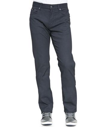 Regular-Fit 5-Pocket Pants, Dark Gray