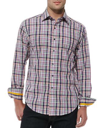 Longshore Plaid Sport Shirt
