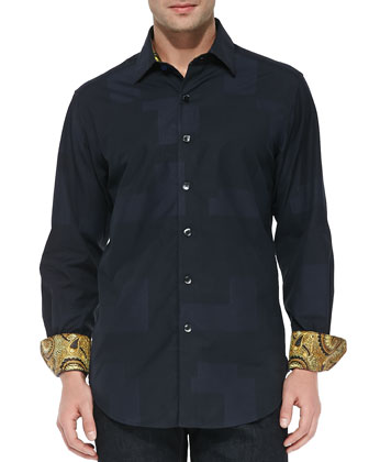 Herschel Jacquard Button-Down Sport Shirt
