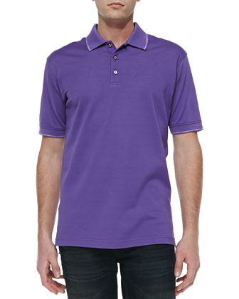 McEnroe Tipped Polo, Lilac