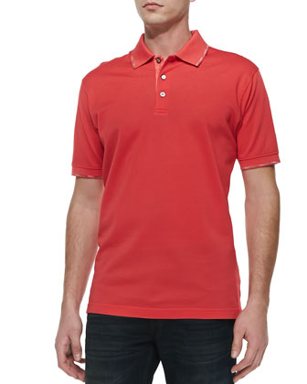 McEnroe Tipped Polo, Red