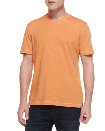 Hudrucker V-Neck Tee, Orange