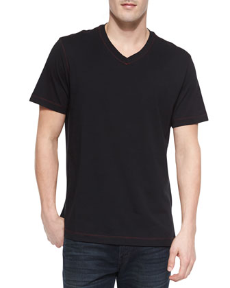 Hudrucker V-Neck Tee, Black