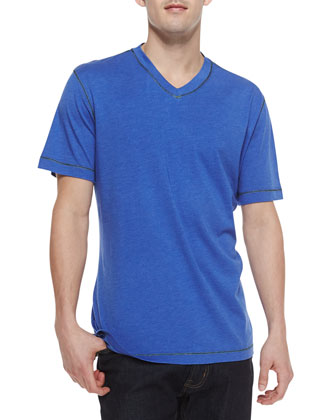Hudrucker True Blue V-Neck Slub Tee