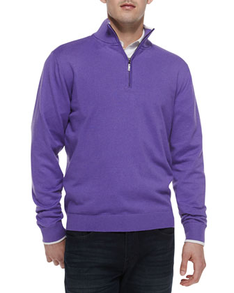 Walkenfuss 1/4-Zip Sweater, Lilac