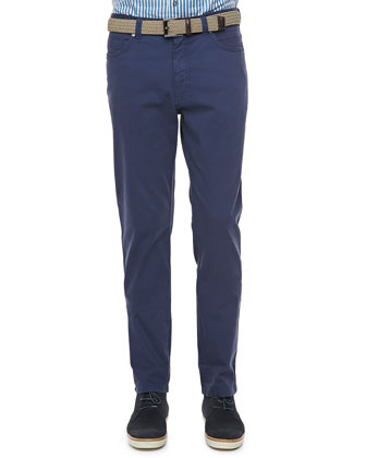 Five-Pocket Pants, Blue