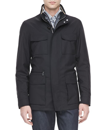 Elements Trofeo-Wool Field Jacket, Black