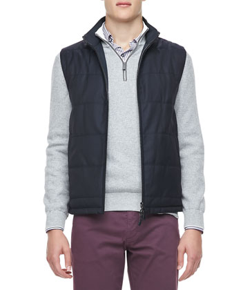 Reversible Vest, Quarter-Zip Pullover, Multi-Stripe Sport Shirt & ...