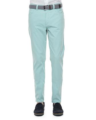 Five-Pocket Pants, Seafoam