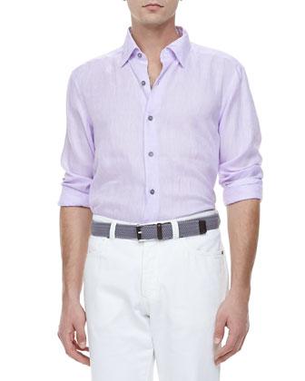 Linen Sport Shirt, Lavender