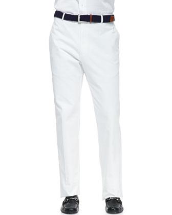 White-Washed Twill Pants, White