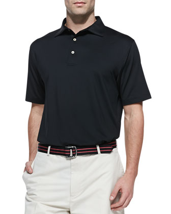 Performance E4 Solid Polo, Black