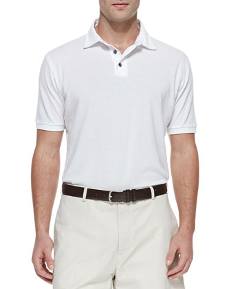 Cotton Pique Polo, White