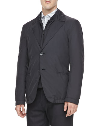 Convertible Tech Blazer, Black