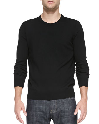 Extrafine Merino Wool Sweater, Black