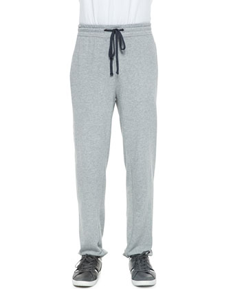 Classic Drawstring Sweatpants, Heather Gray