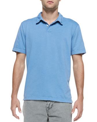 Jersey Polo Shirt, Light Blue