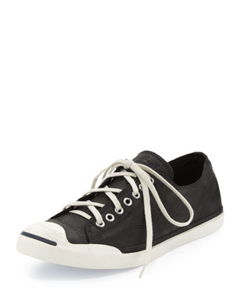 John Purcell Leather Low-Top Sneaker, Black