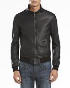 Napa Leather Jacket, Black