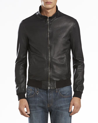 Napa Leather Jacket, Black
