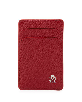 Bourdon Leather Card Case, Red