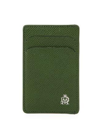 Bourdon Leather Card Case, Green