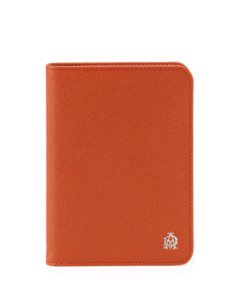 Bourdon Leather Passport Holder, Orange