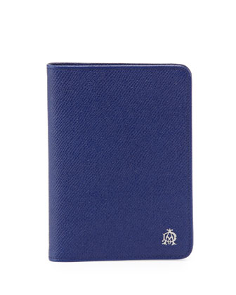 Bourdon Leather Passport Holder, Blue