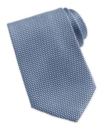 Micro-Circle Neat Tie, Light Blue