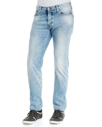 Rambler Slim-Fit Jeans, Light Blue
